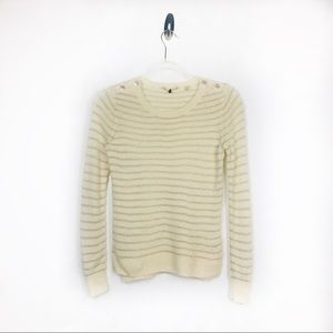Rebecca Taylor Wool Blend Stripe Pullover Sweater